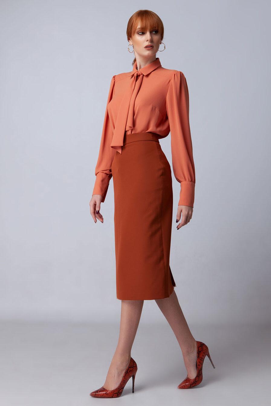 Midi φούστα σε στενή γραμμή